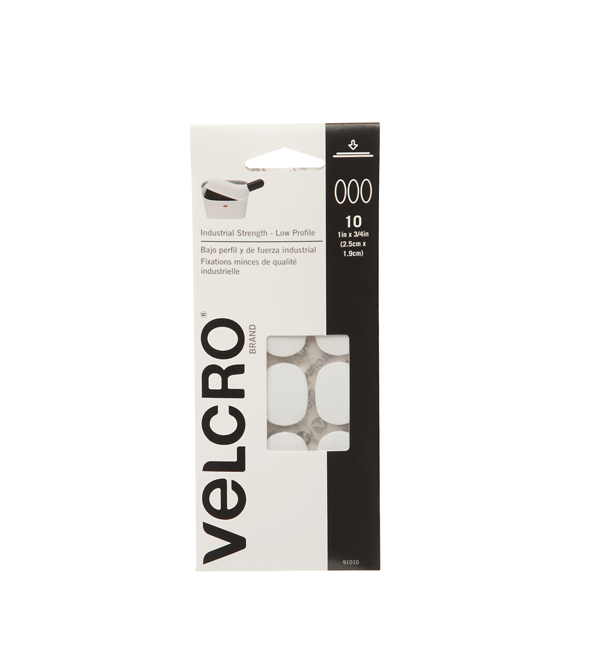 VELCRO® Brand Ultra-Mate® Coins 1\u0022x 3/4\u0022 10 Sets-Black