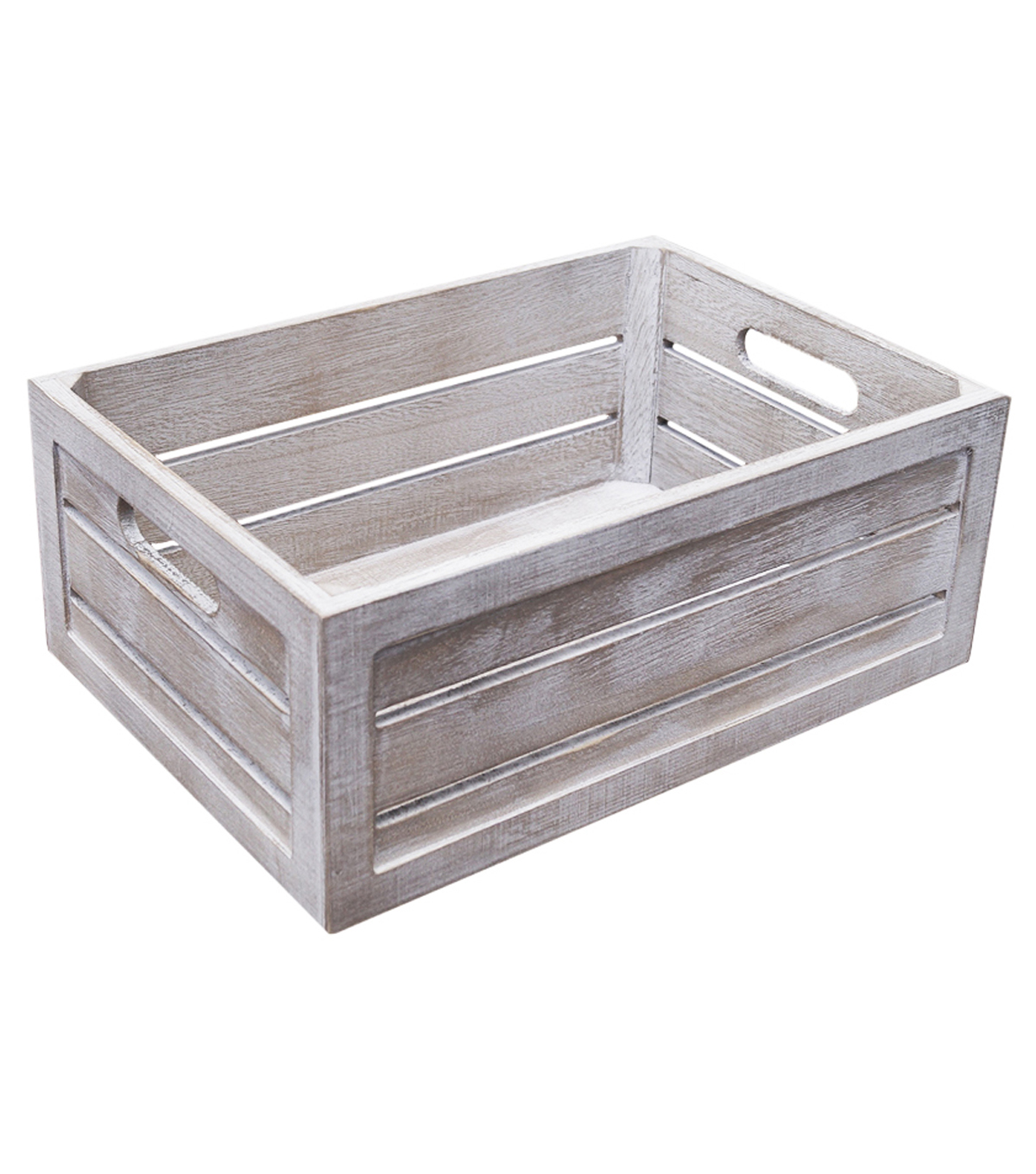 Fab Lab™ Medium White Wash Crate with Handles