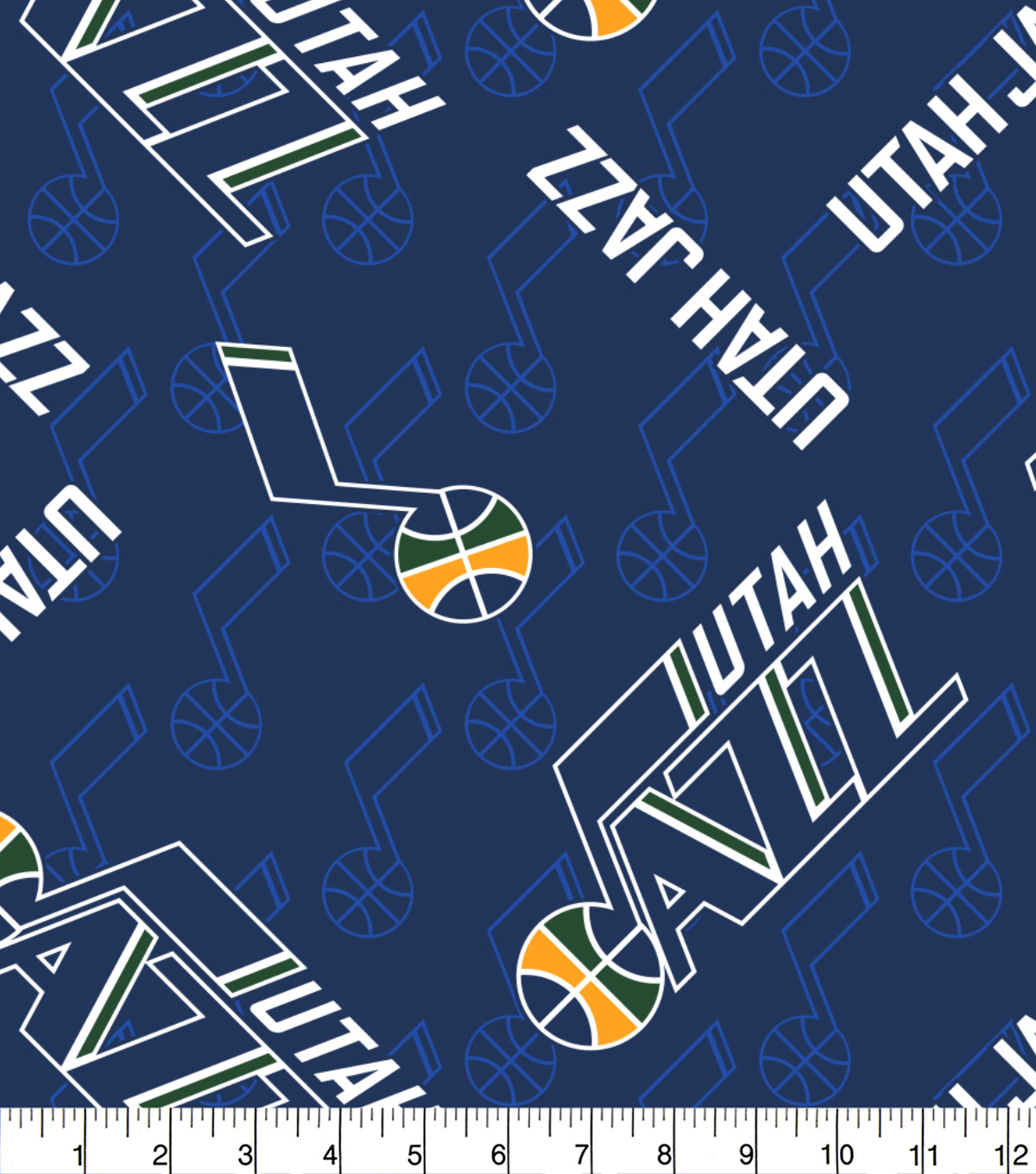 "Utah Jazz Fleece Fabric 58""-Logo Toss"