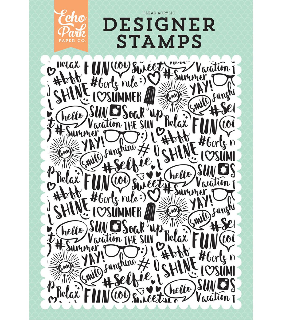 Background Stamp A2-Summer Dreams, Summer Vibes