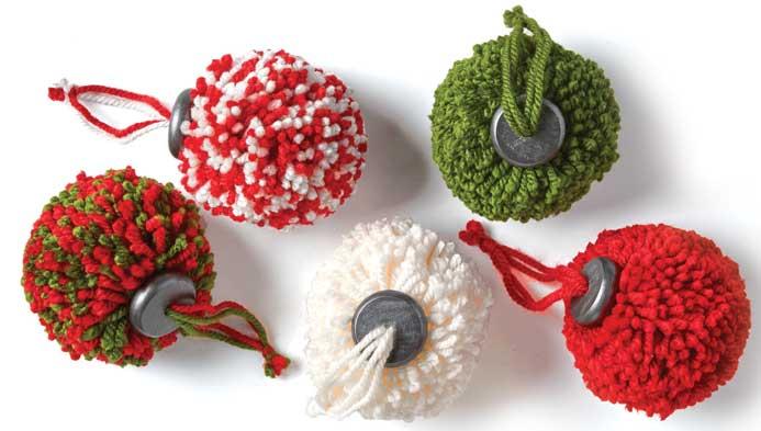 Kids Pom-pom Ornaments