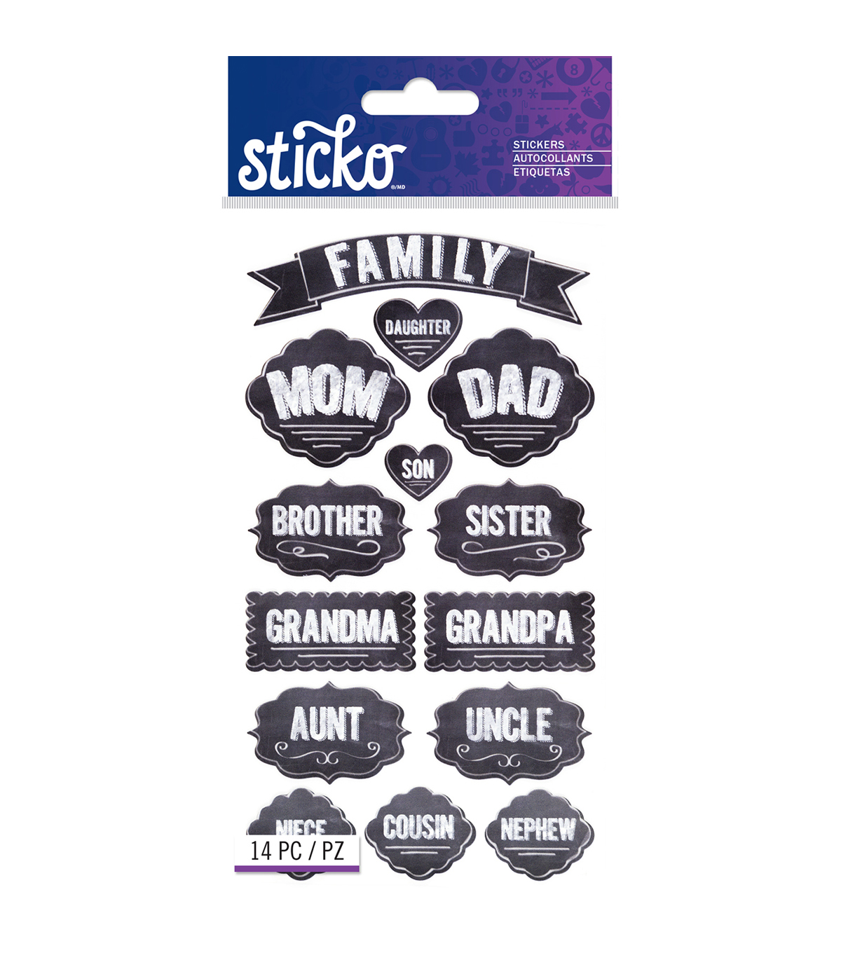 Sticko Chalk Stickers - Family