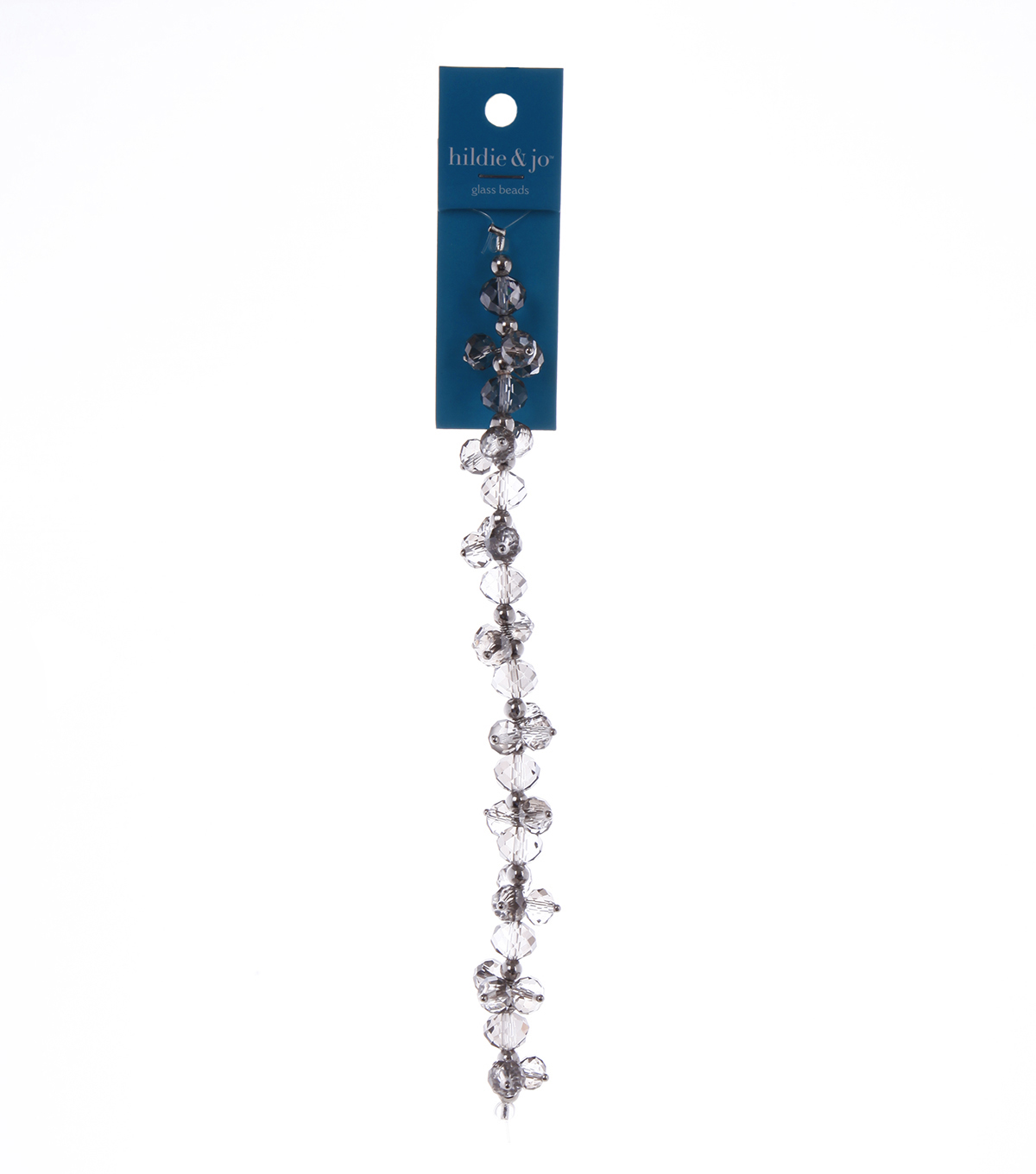 "Blue Moon Beads 7"" Crystal Strand, Dangles, Grey"