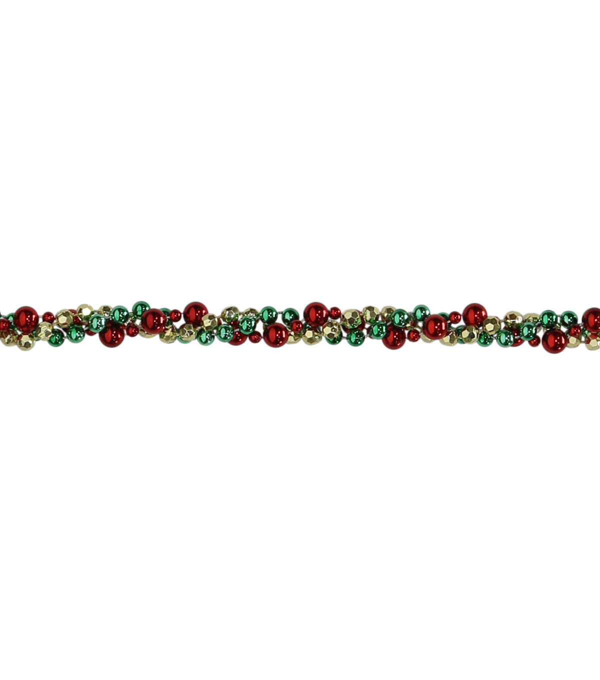 Maker's Holiday Twisted Bead Garland-Gold, Green & Red