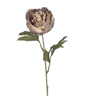 Bloom Room 28\u0027\u0027 Burlap Peony Stem-Brown