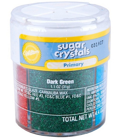 Wilton® Sugar Crystals 4 Colors/Pkg-Primary