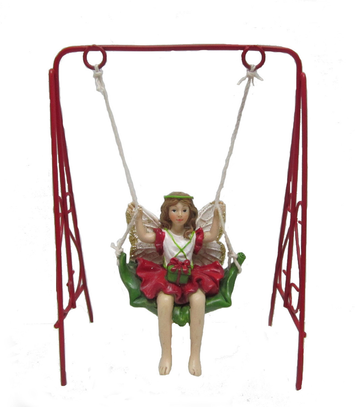 Maker's Holiday Christmas Littles Fairy on Swing