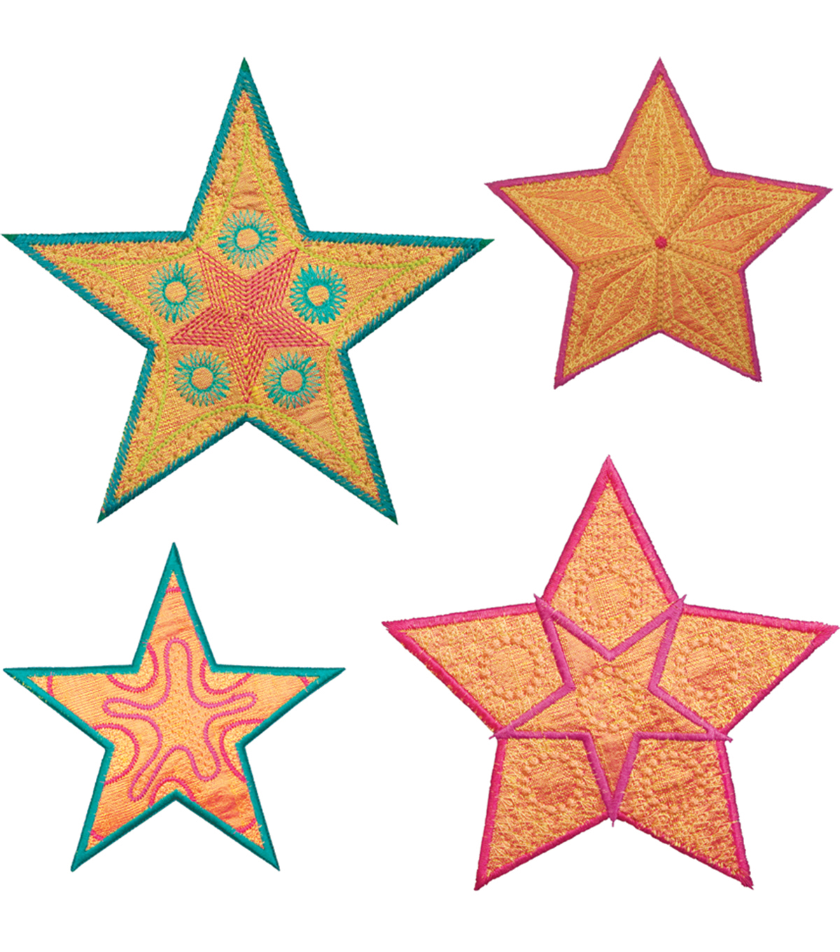 GO! Fabric Cutting Dies-Star Medley 5 Point By Sarah Vedeler