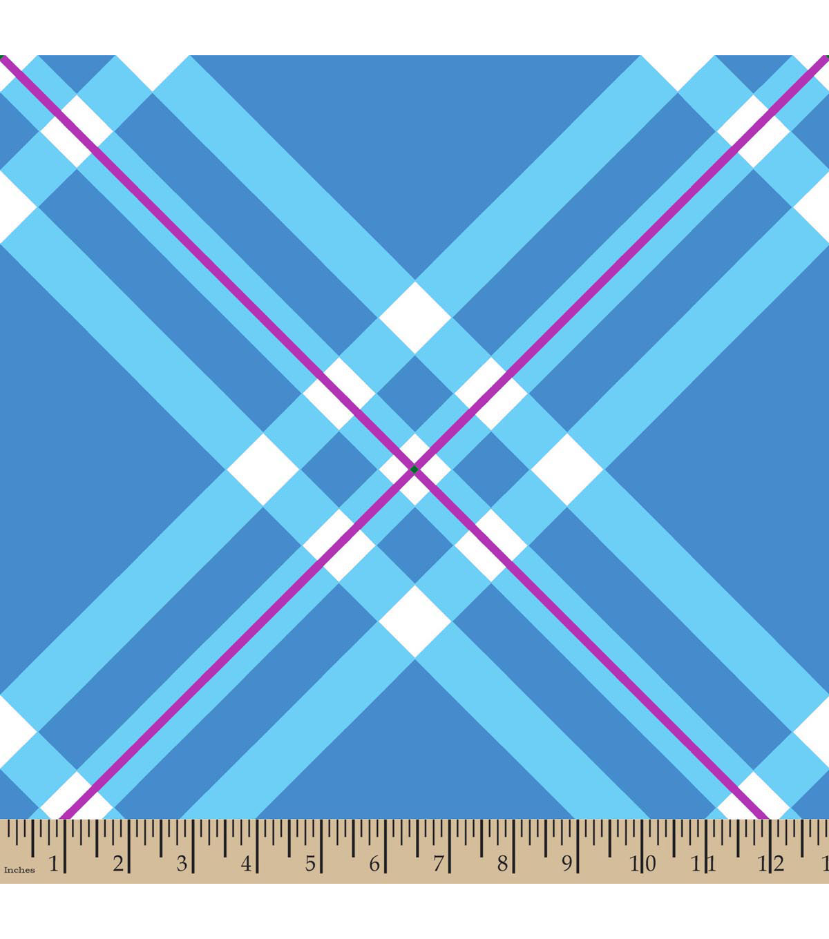 Blizzard Fleece Fabric 59\u0022-Light Blue Diagonal Plaid