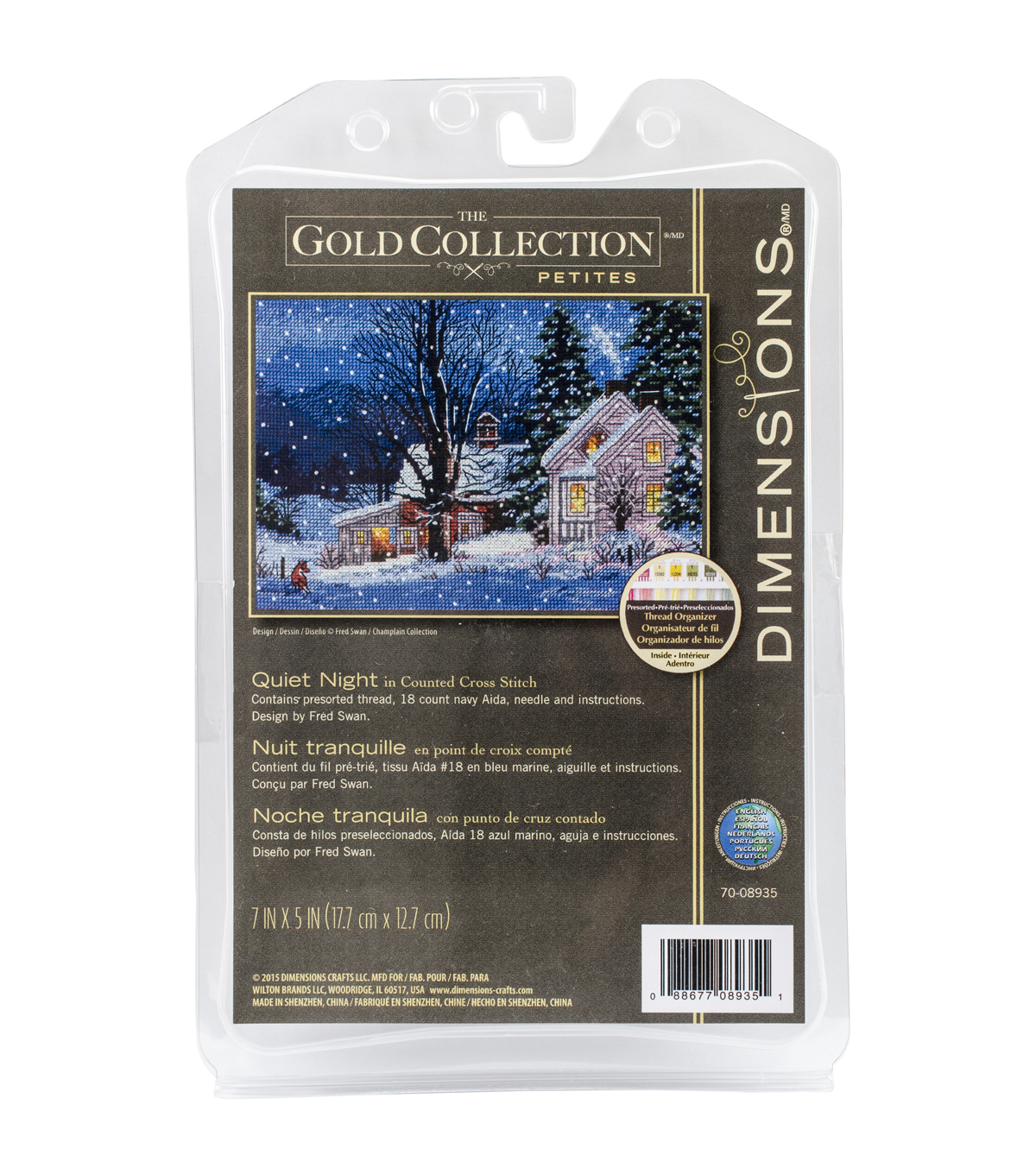 Dimensions Gold Petite Quiet Night Counted Cross Stitch Kit