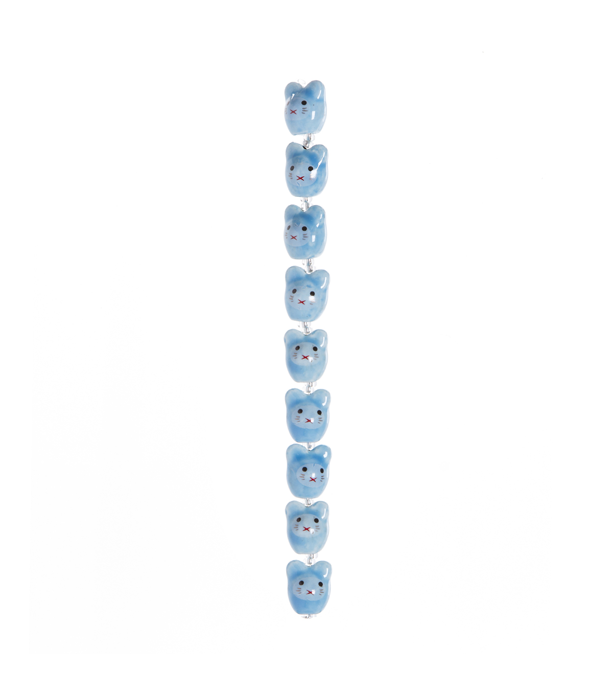 Blue Mouse Beads, 7-inch Strand