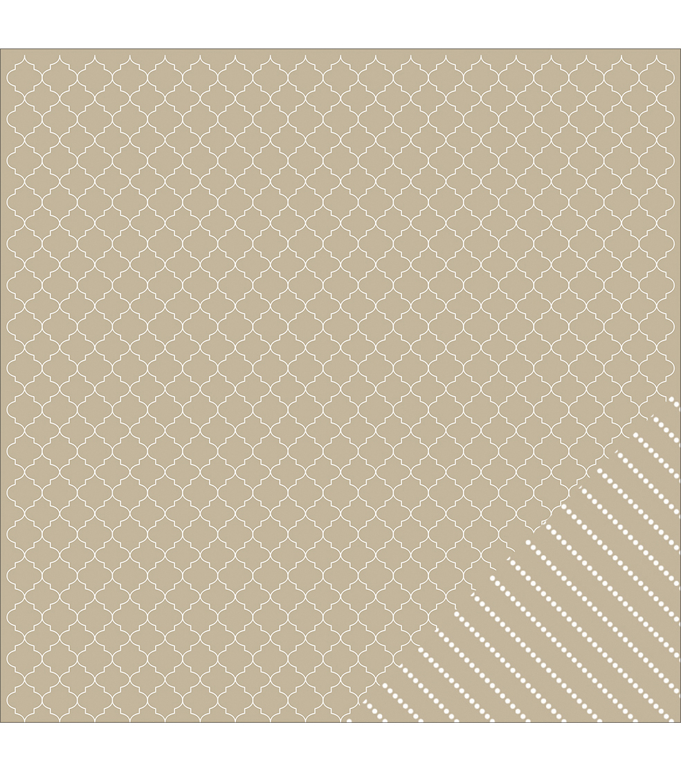 American Crafts Basics Quatrefoil Double-Sided Cardstock