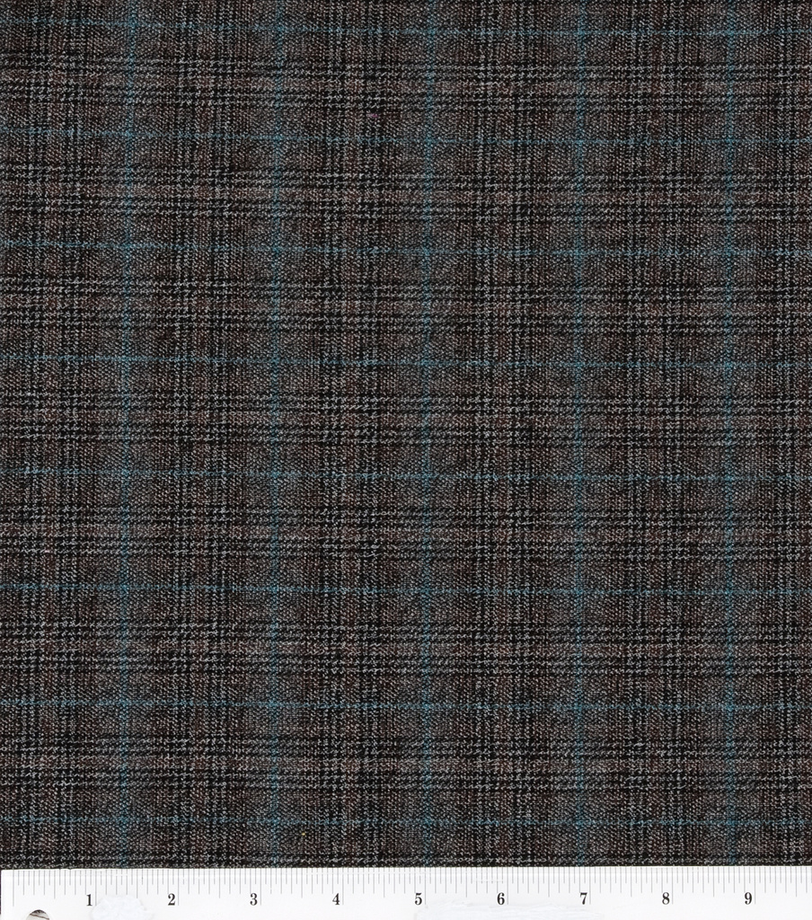 Fashion Poly Spandex Suiting Fabric 57\u0022-Black and Brown