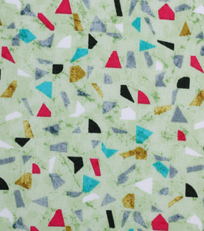 Modern Cotton Fabric 43\u0027\u0027-Mini Tossed Shapes on Green