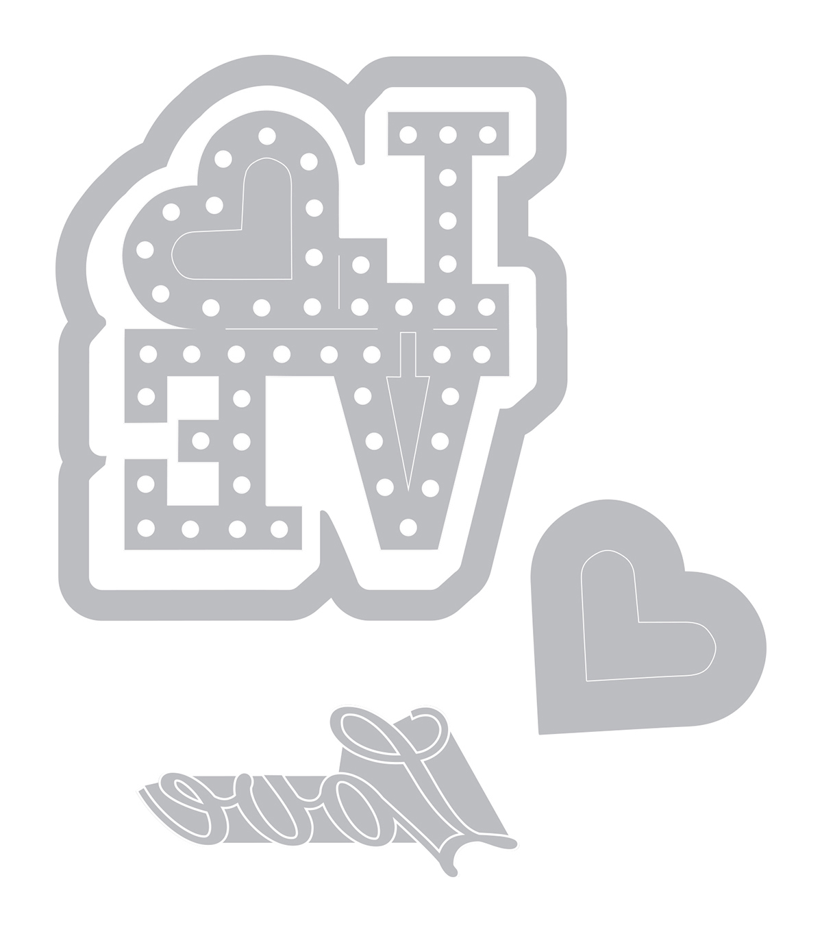 Sizzix® Framelits™ Dies with Stamps-Love In Lights