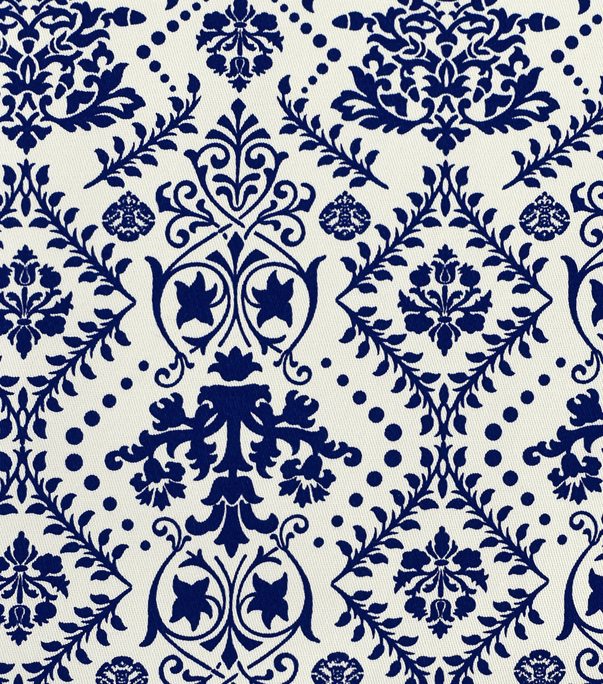 Sportswear Apparel Stretch Twill Fabric 57\u0022-Navy & Ivory Damask
