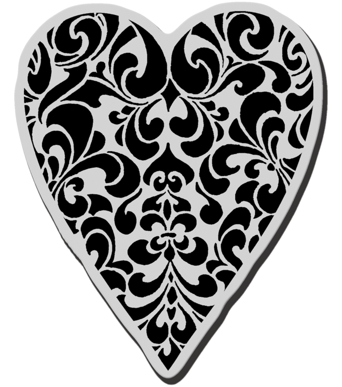 Stampendous Cling Rubber Stamp-Ornate Heart