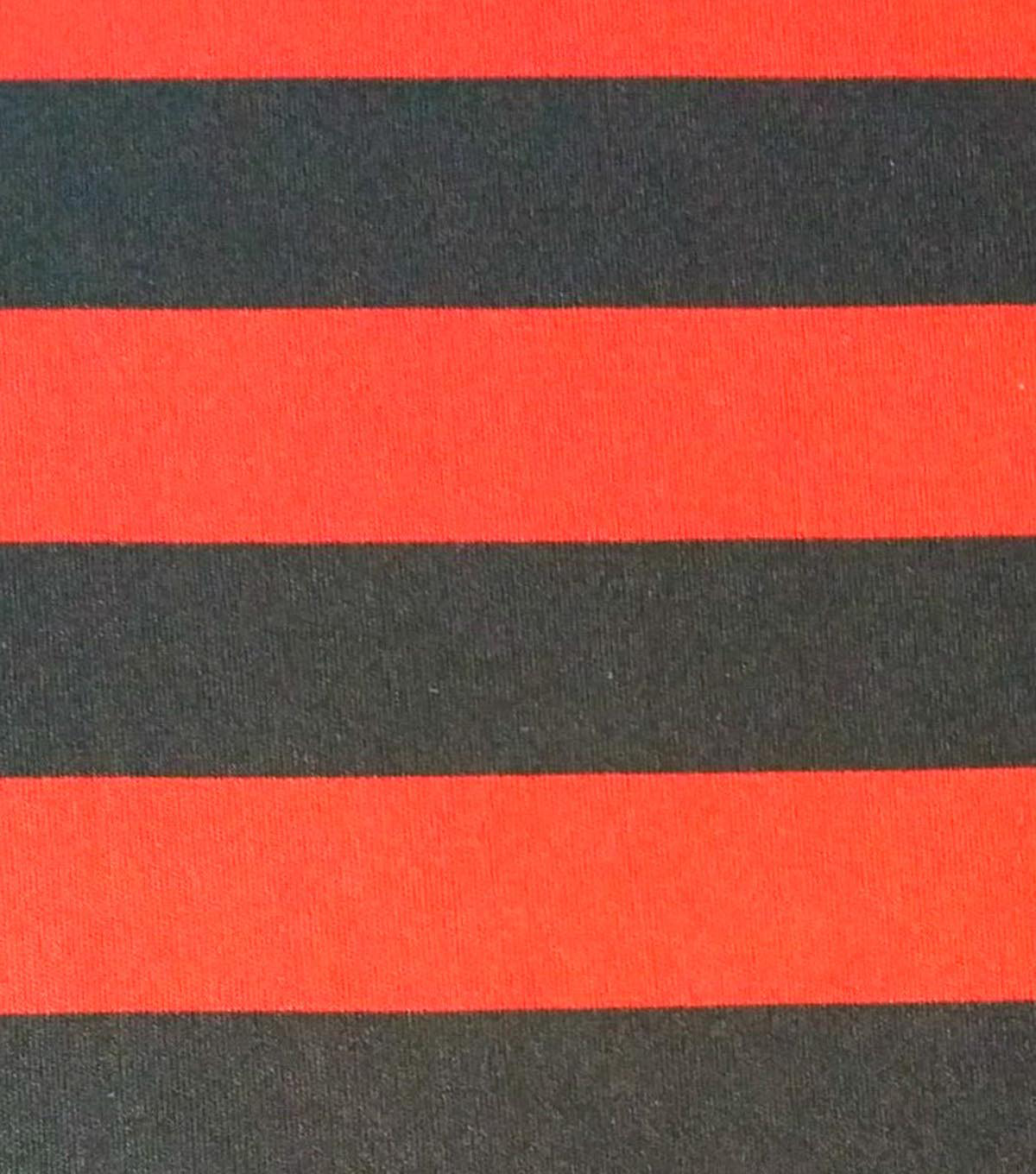 Halloween Spirit Collection- Stripe Knit Red & Black Fabric | JOANN