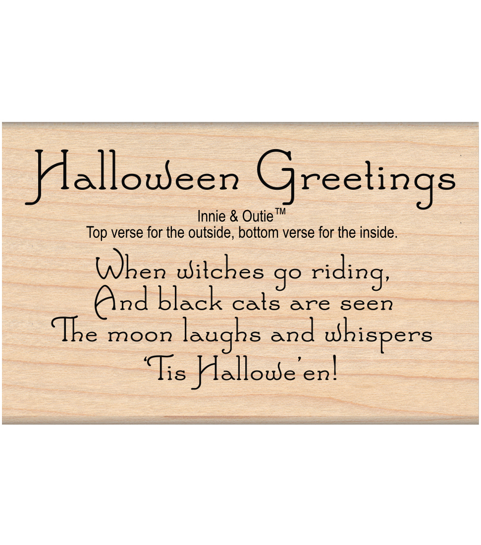 My Sentiments Exactly Mounted Stamp-Halloween Greetings