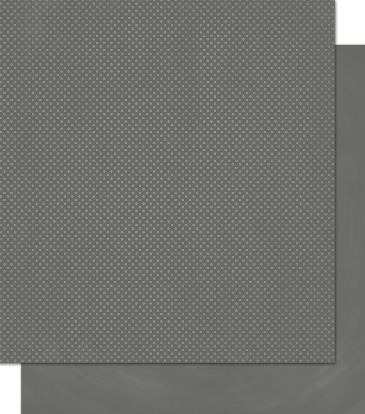 BoBunny Double Dot Double-Sided Textured Cardstock 12\u0022X12\u0022-Charcoal