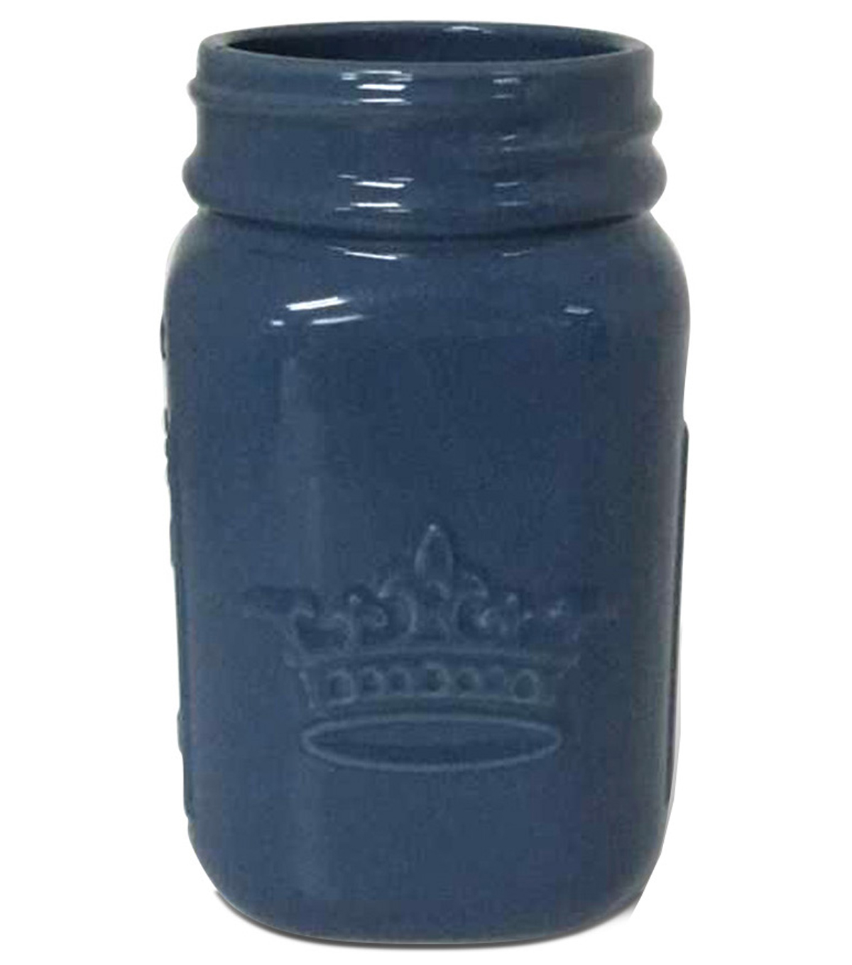Buttercream™ Collection Ceramic Jar-Blue Gray