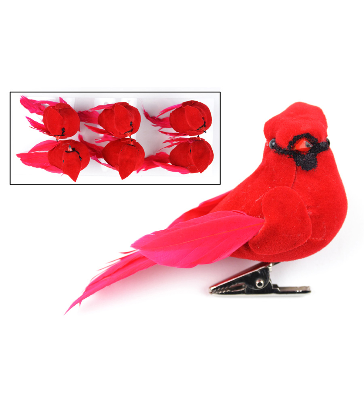 Blooming Holiday 6ct Cardinals-Red