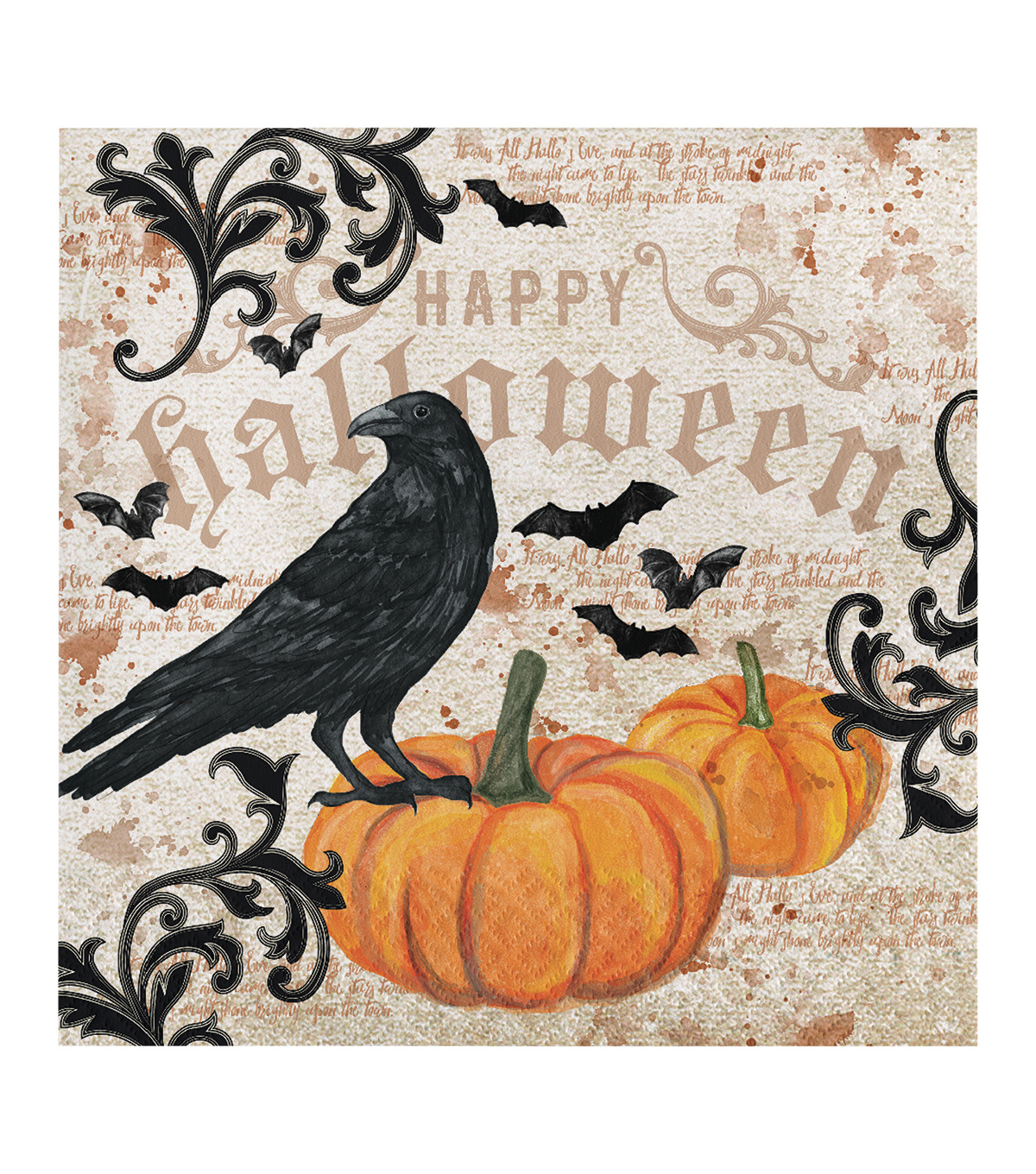 Maker's Halloween 20 Pack Paper Napkins-Crow