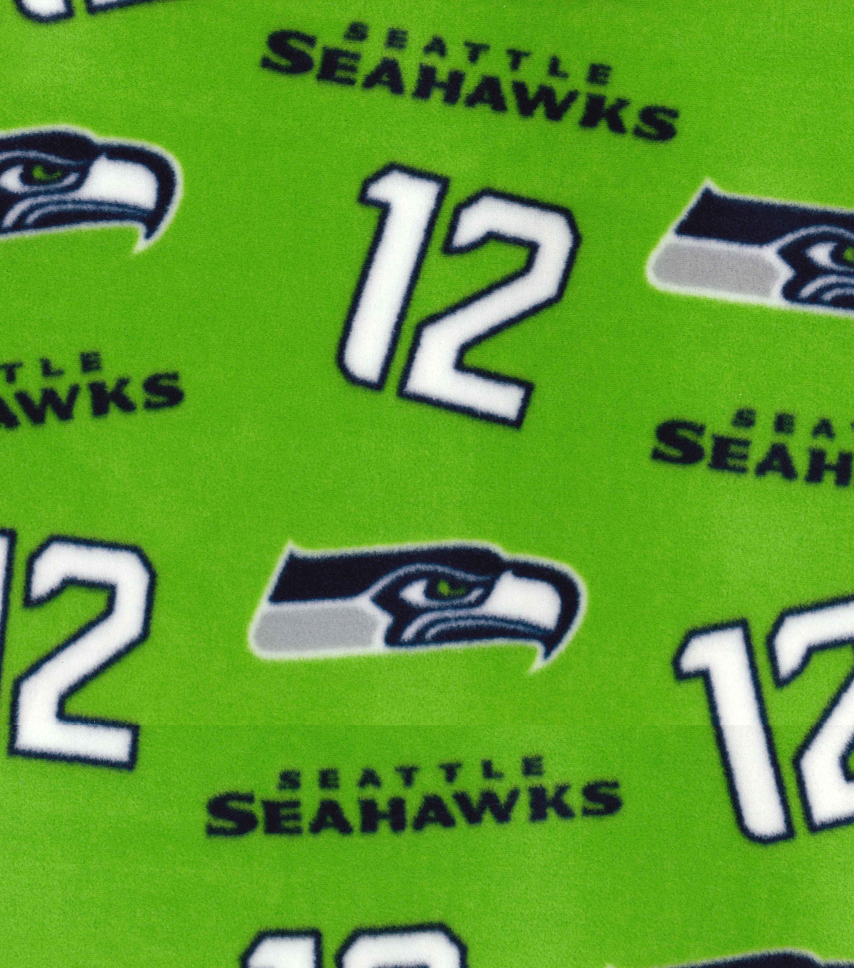 "Seattle Seahawks Fleece Fabric 58""-Green"