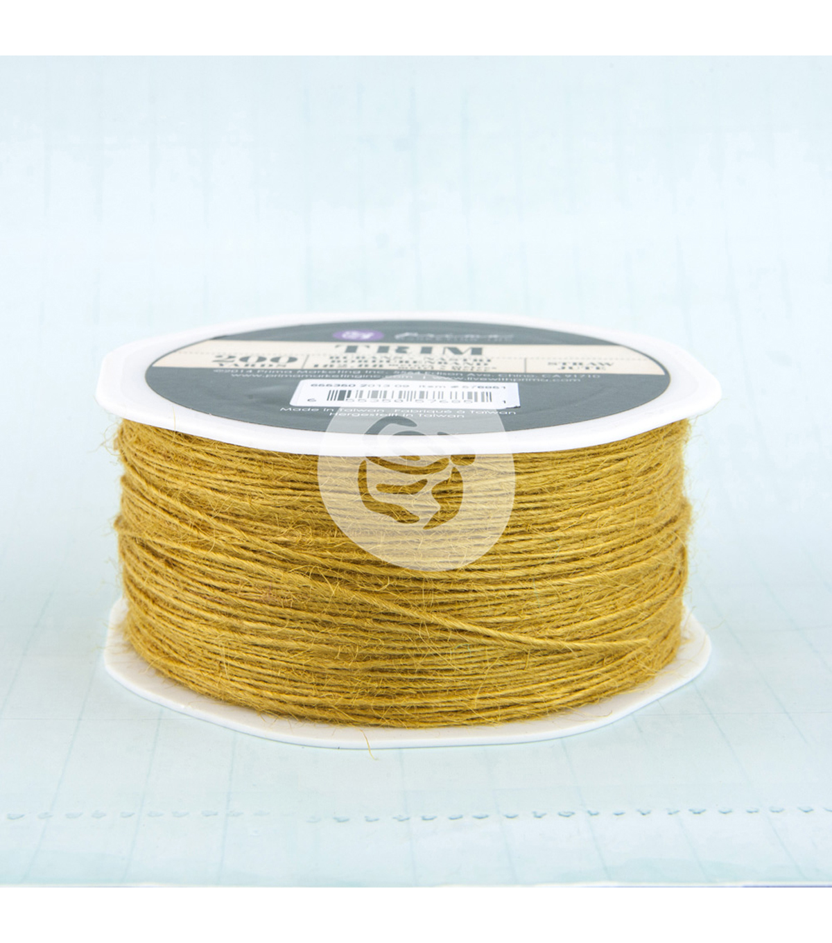 Prima Marketing Jute Trim 200yds-Straw