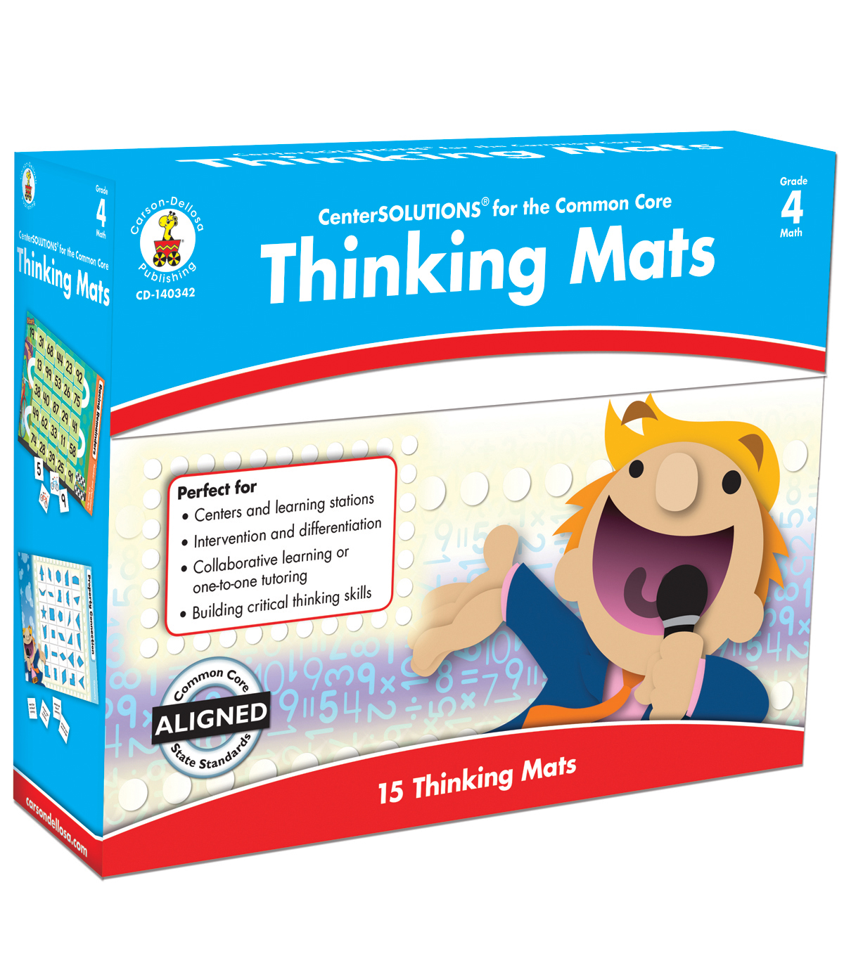 Thinking Mats Classroom Support Materials 30ct- Grade 4