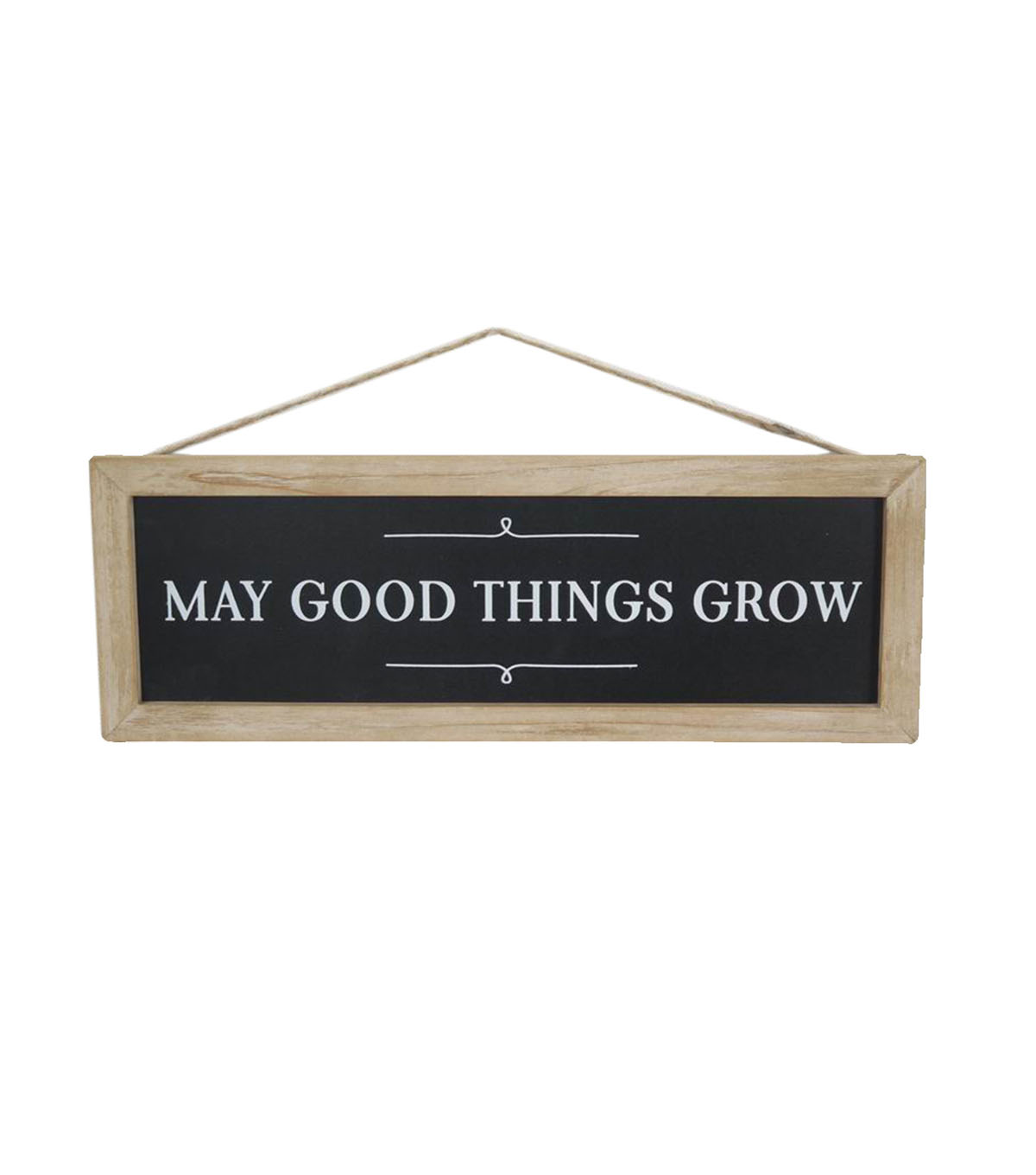 Hello Spring Wall Decor-May Good Things Grow on Black