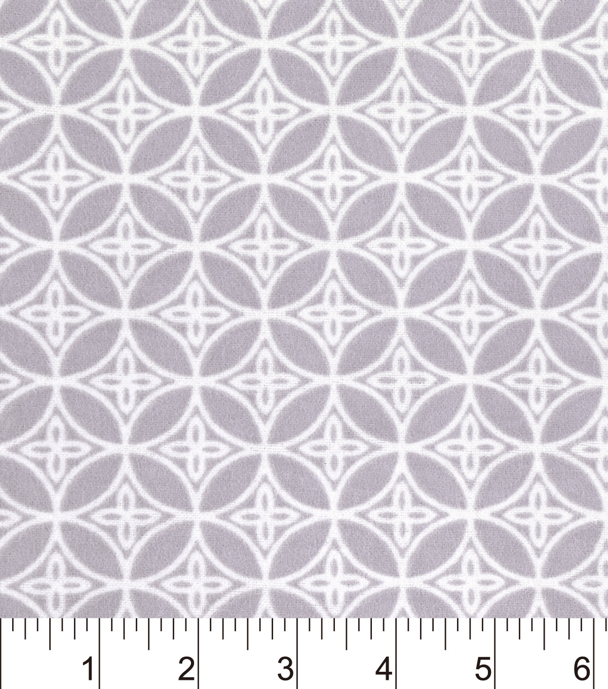 "Snuggle Flannel Fabric 42""-Gray Floral Geo"