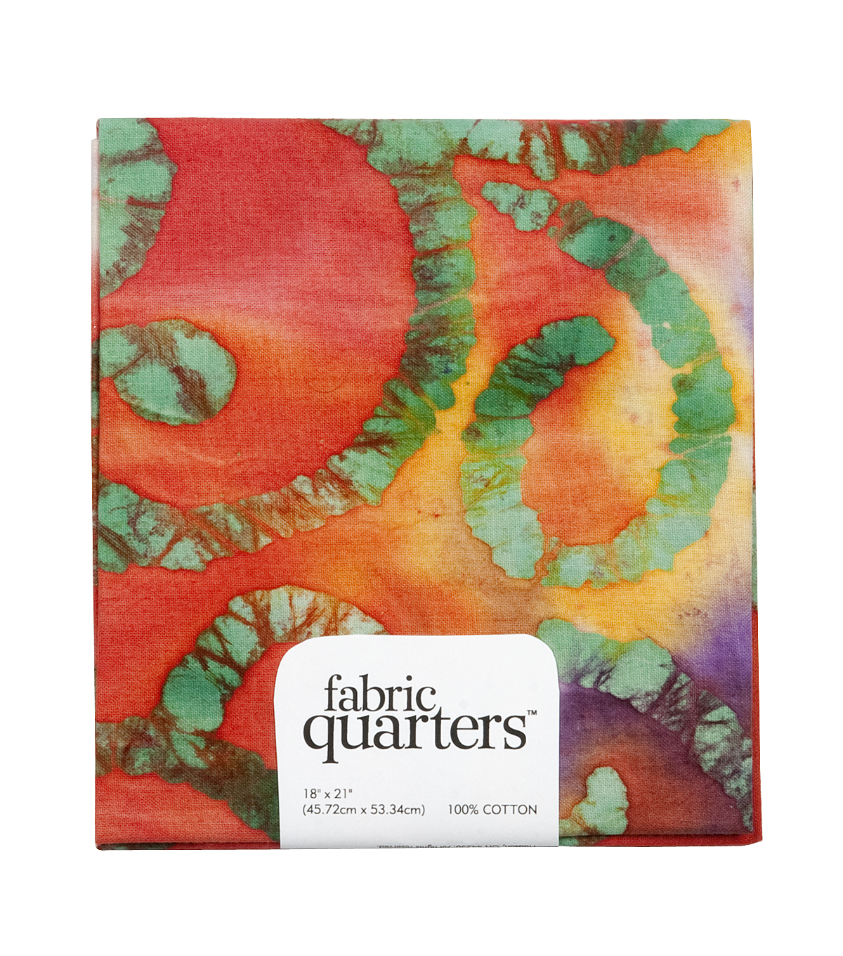 Fabric-Quarters Assorted Batik Fabric-Red