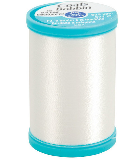 Coats & Clark Polyester Bobbin Thread 625 yd-White