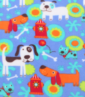 Anti-Pill Fleece Fabric 59\u0022-Bright Doggies
