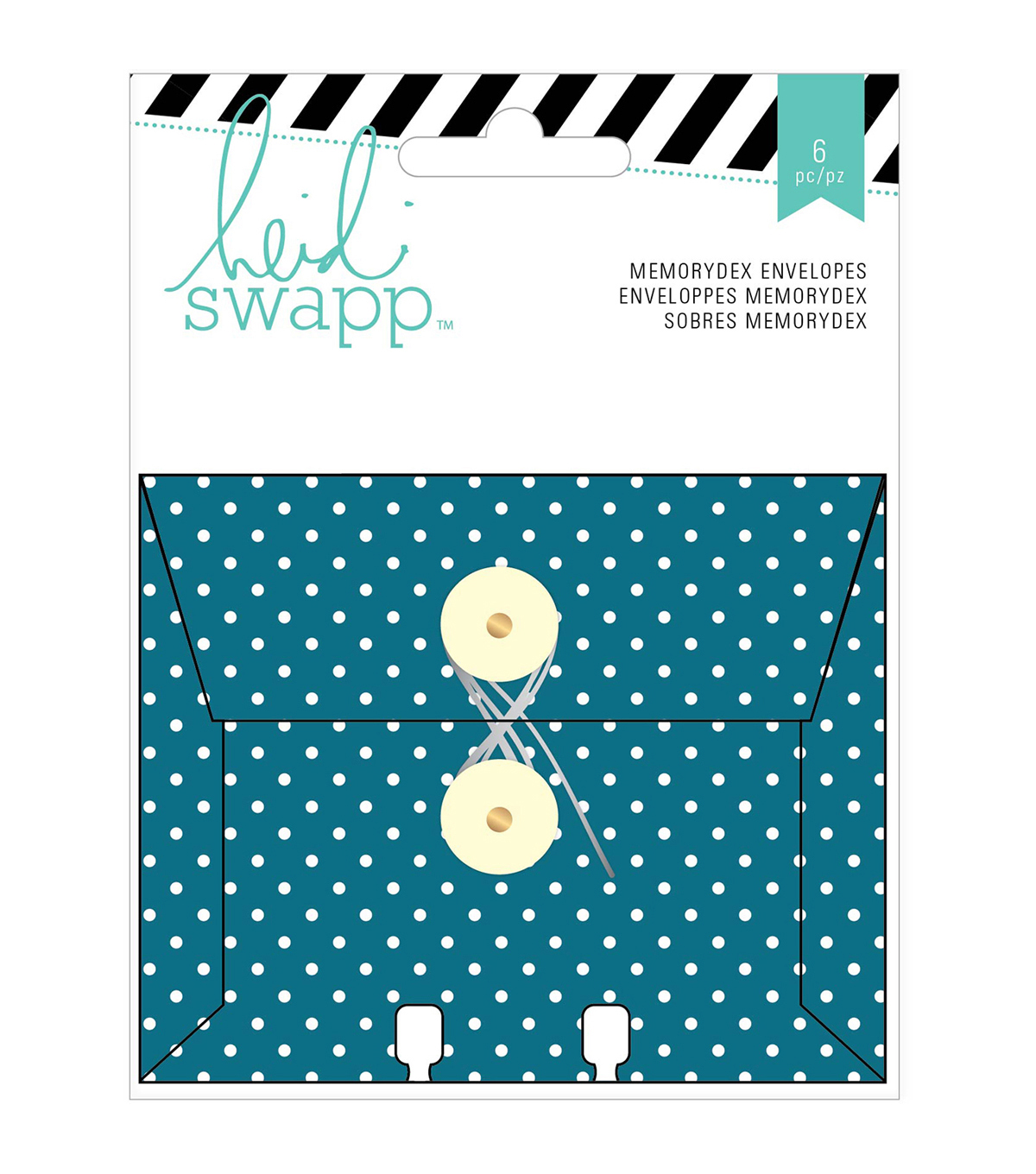 Memorydex Envelope Cards W/String Closure 6/Pkg-Wanderlust