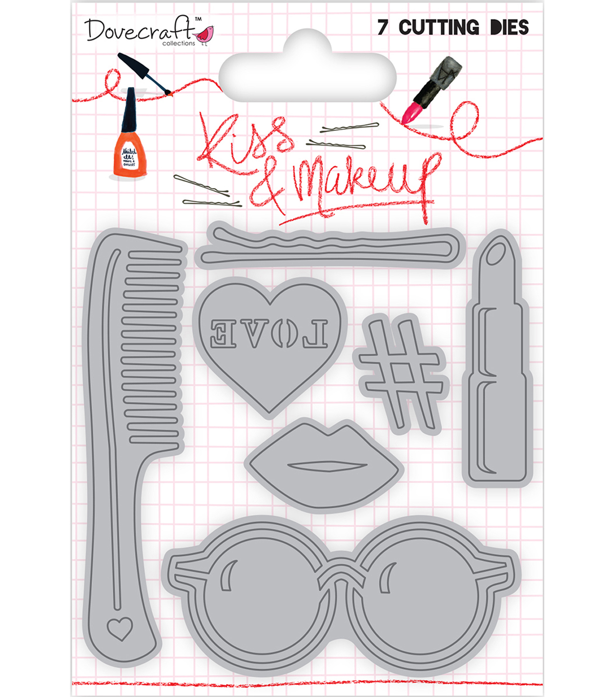 Dovecraft Kiss & Make Up 7 pk Cutting Dies
