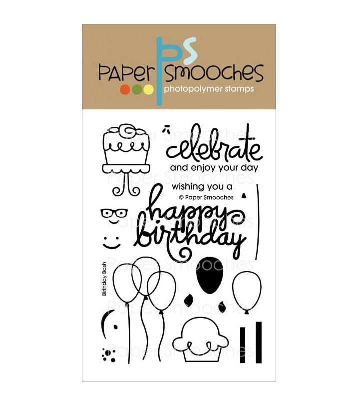 Paper Smooches Clear Stamps-Birthday Bash