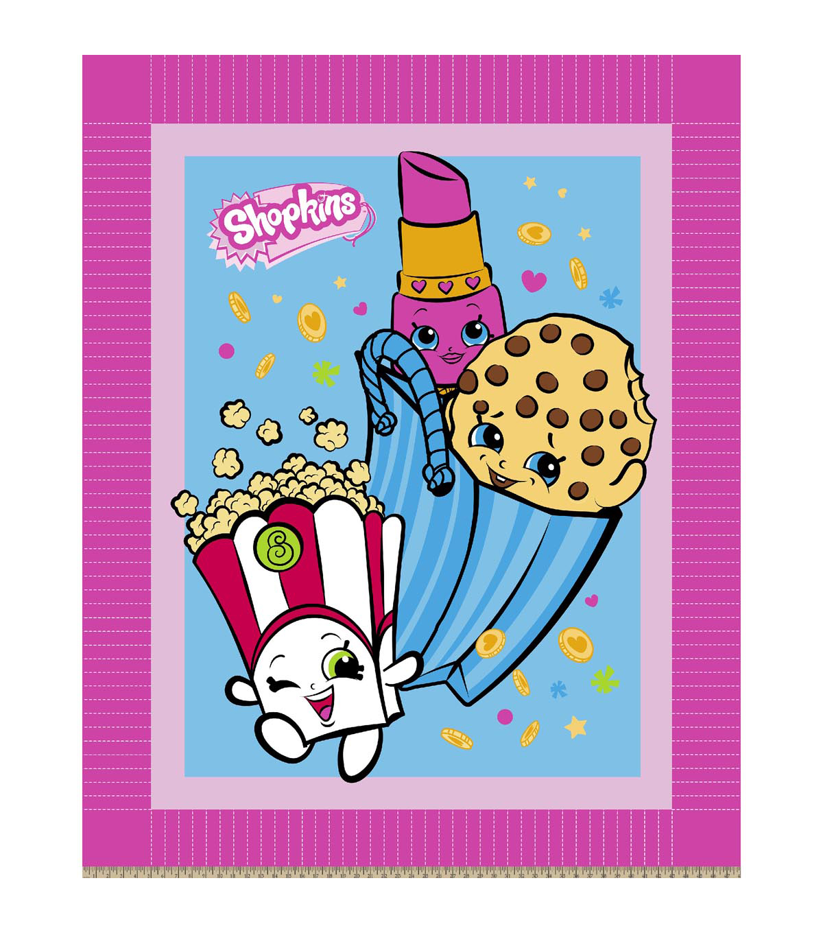 No Sew Fleece Throw-Shopkins Party