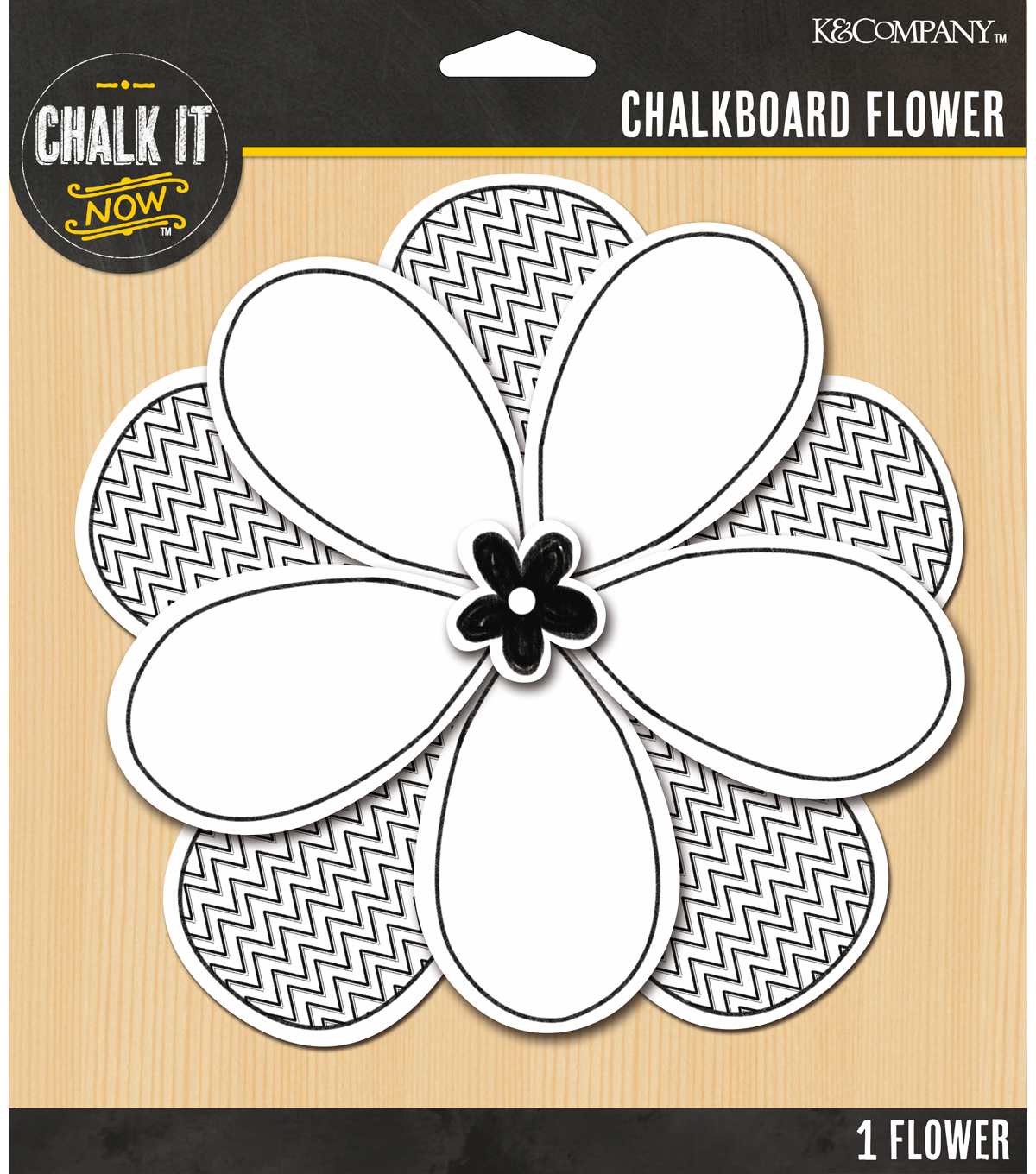Chalk it Now - White Jumbo Chalkboard Flower