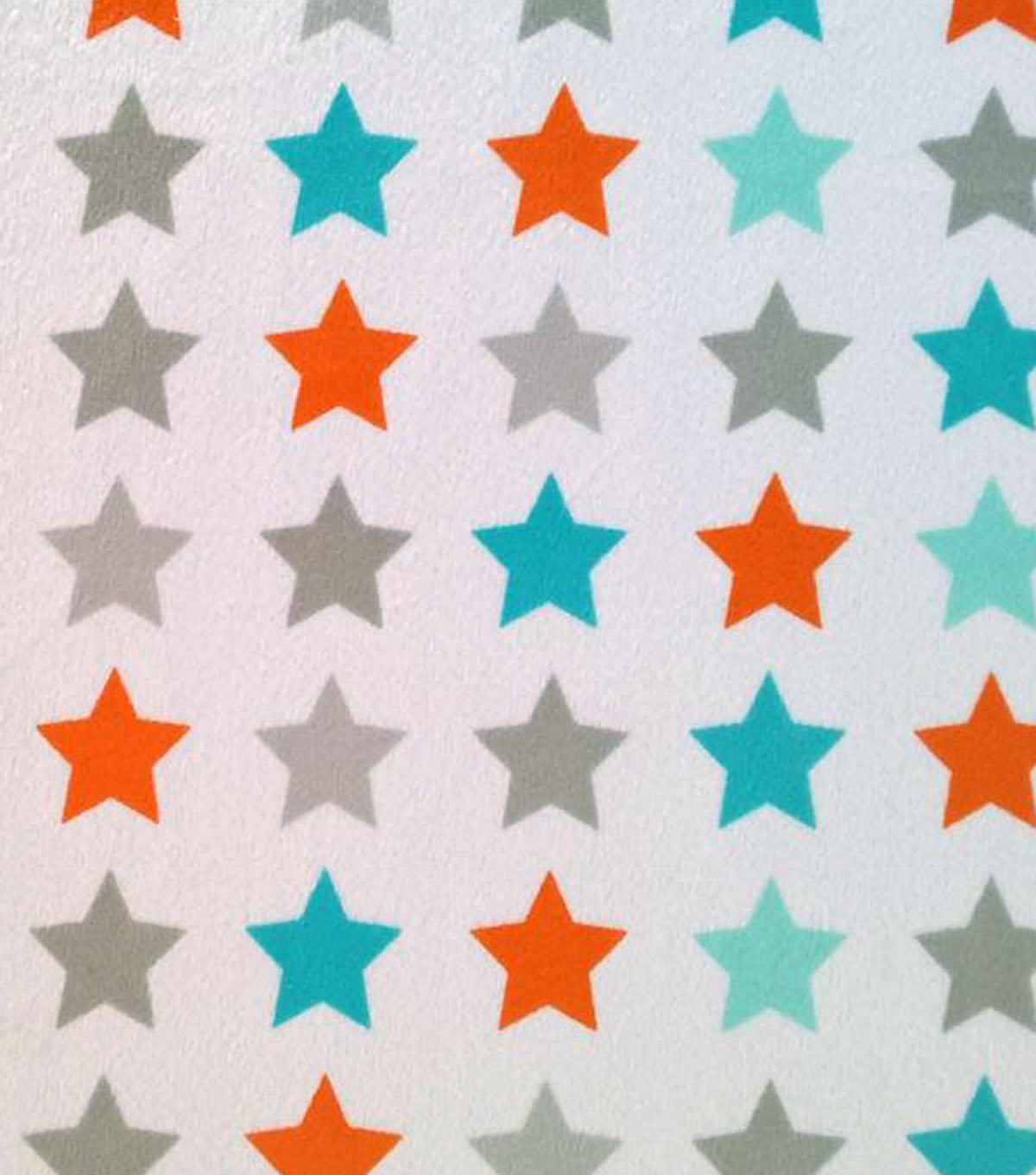 Soft N Comfy Fabric Stars Turquoise Orange