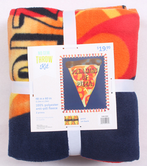 "No Sew Fleece Throw 48""-Dreaming Of Pizza"