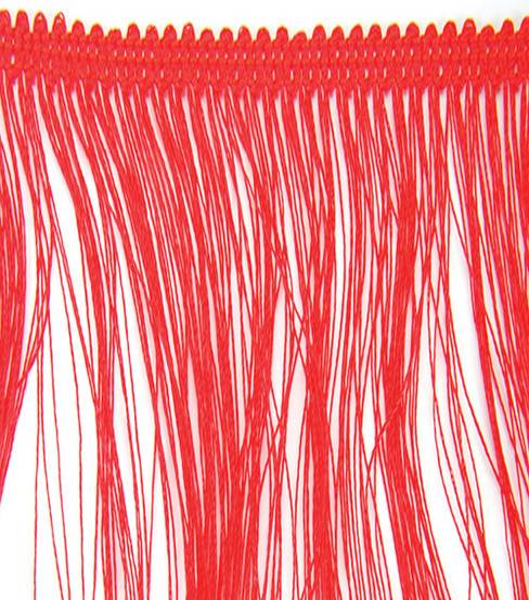 Wrights Fringe Trim 4\u0022W-10yds/Red