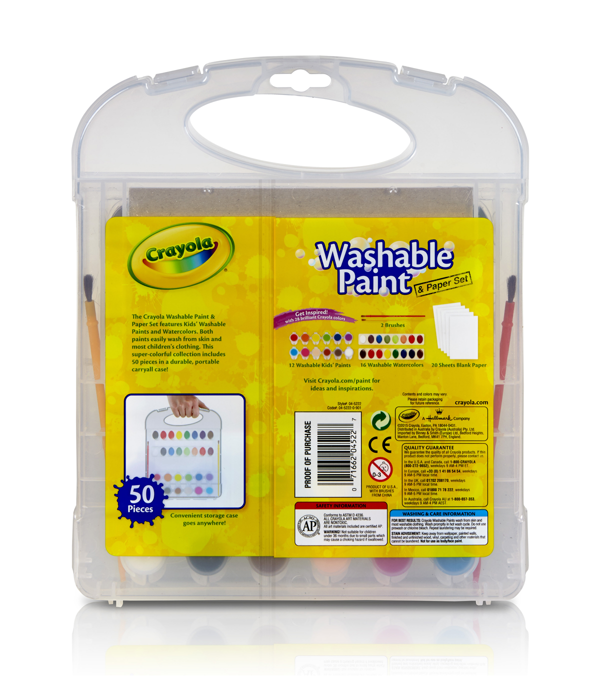 Crayola Washable Paint & Paper Set 50pc