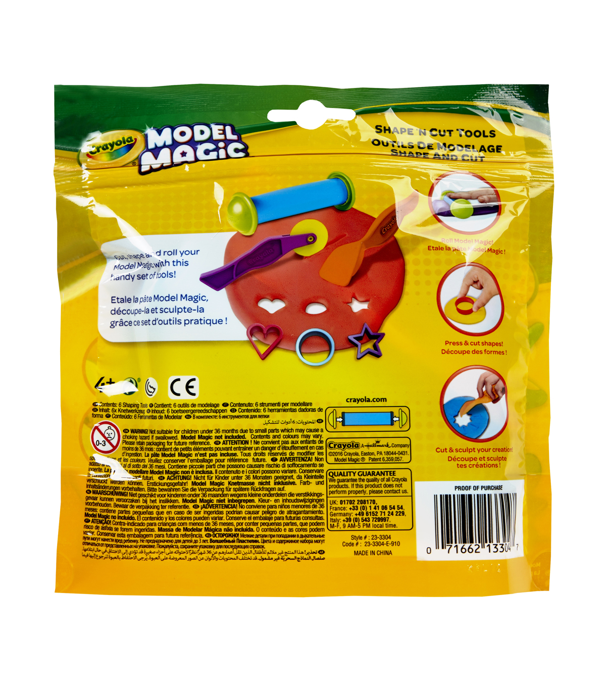 Crayola Model Magic Shape \u0027N Cut Tools 6/Pkg