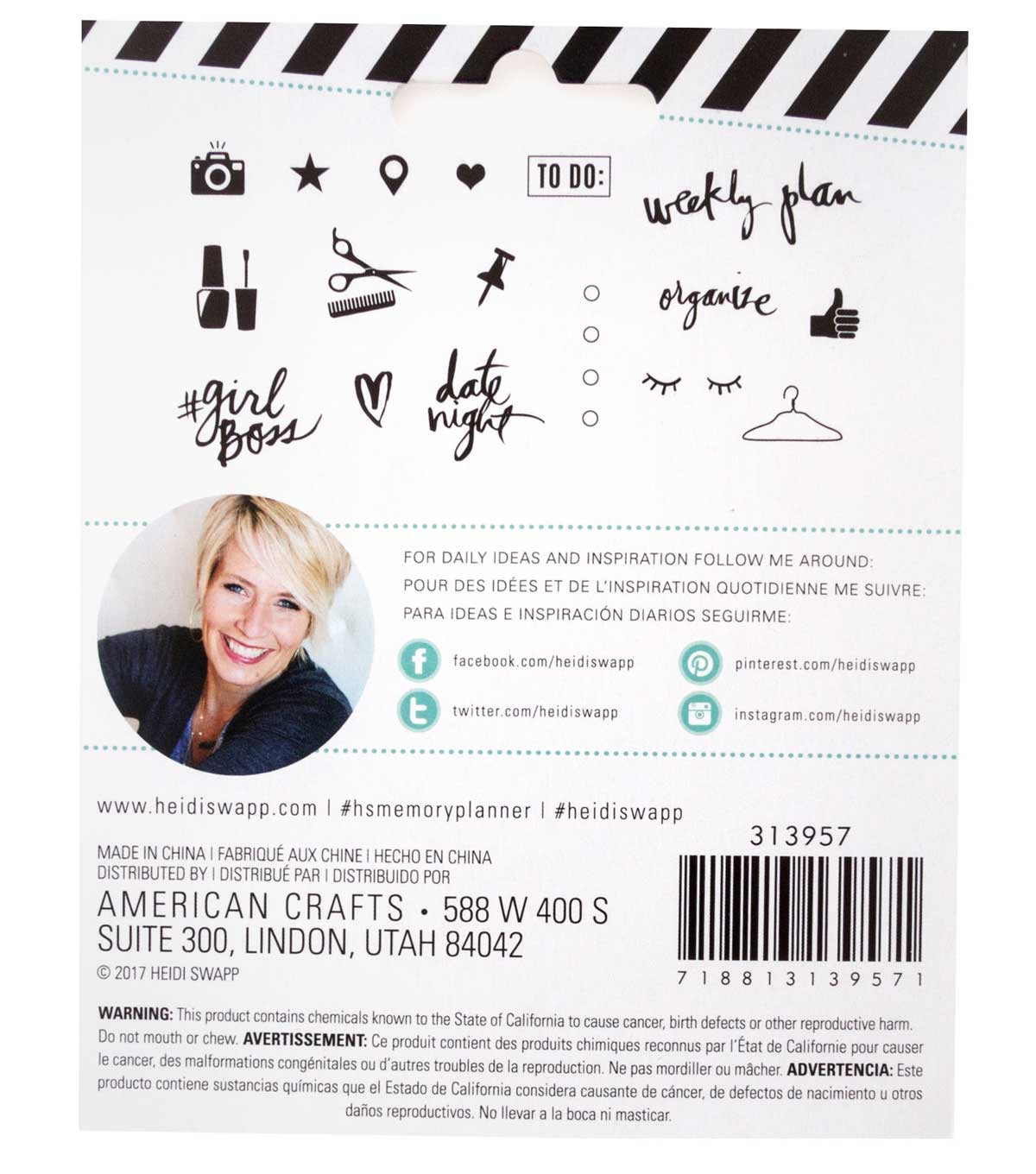 Heidi Swapp® Fresh Start Clear Stamps-Everyday
