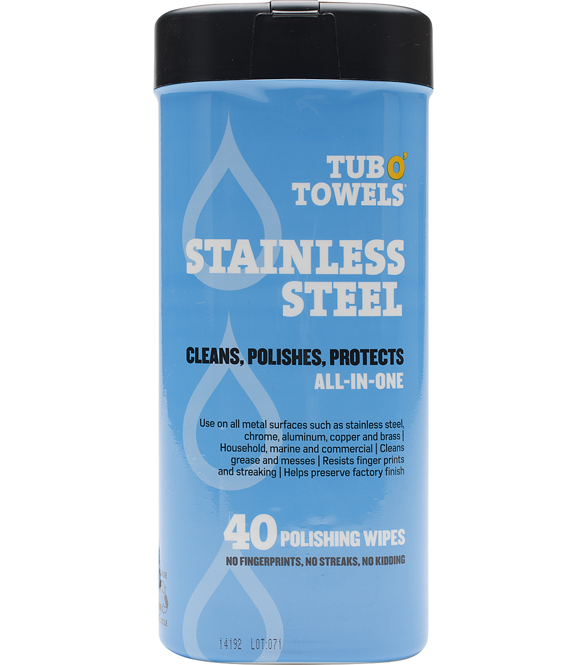 "Tub O' Towels 7""X8""-Stainless Steel"