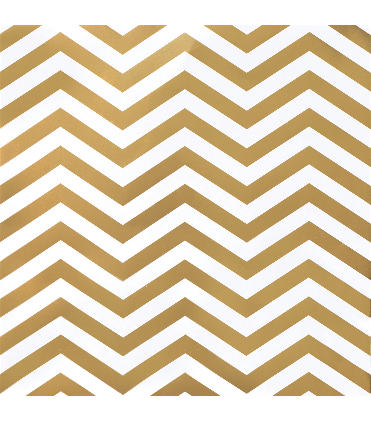 American Crafts DIY Shop 2 Gold Chevron On White Specialty Cardstock