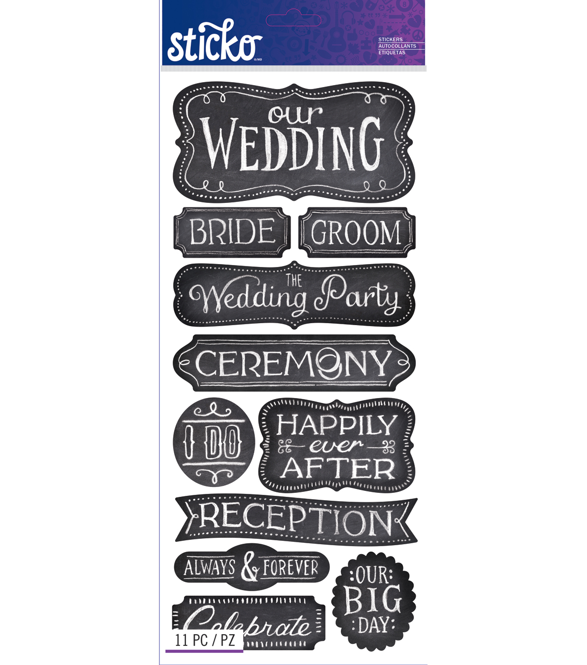Wedding Chalk Words
