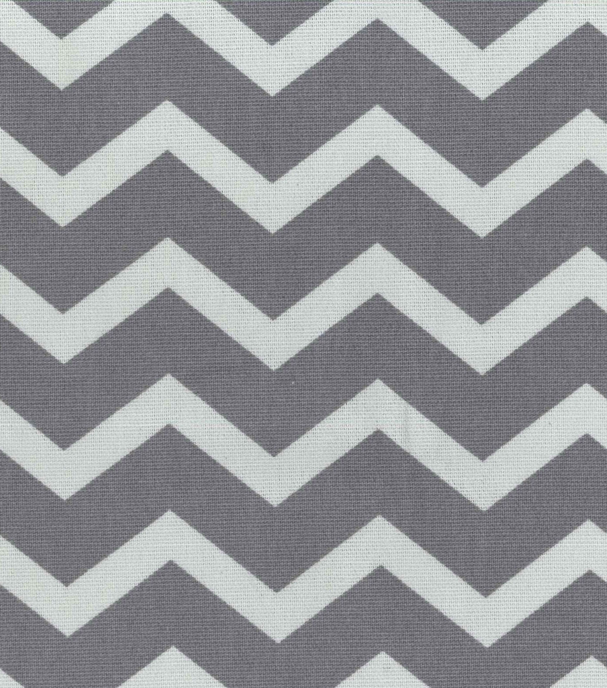 Home Essentials Print Fabric 45\u0022-Chevron Grey